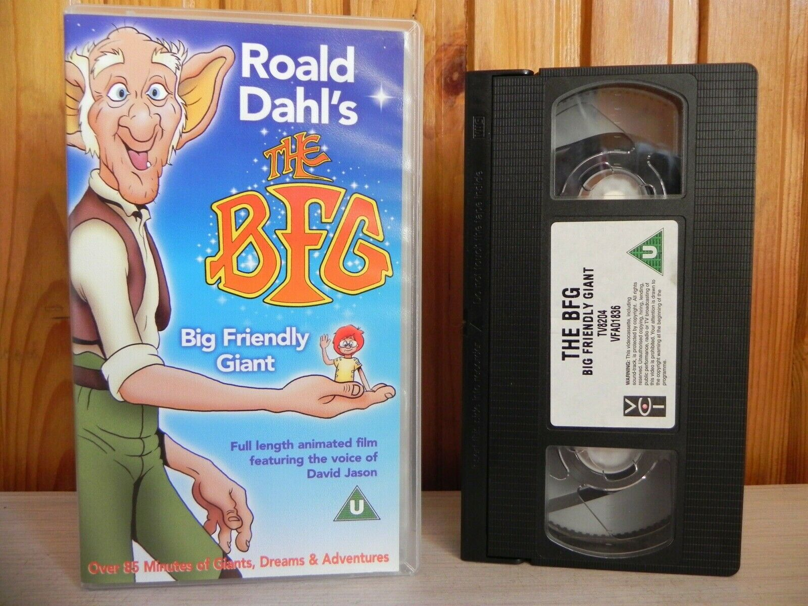 Roald Dahl's - The BFG - Big Friendly Giant - Full Length Animated Film - VHS