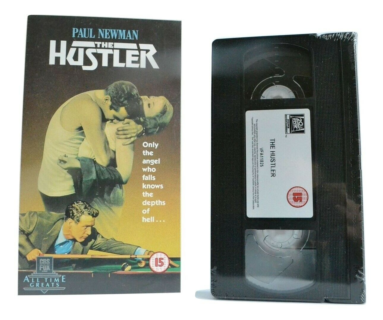 The Hustler: Paul Newman; Major League Pool - (Brand New Sealed) Cult Drama VHS