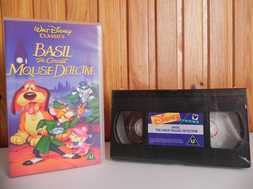 Basil The Great Mouse Detective - Disney - Brand New Sealed - Kids - Pal VHS