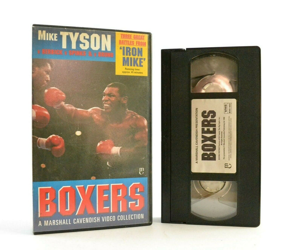 Mike Tyson: Three Great Battles - Boxers Video Collection - Iron Mike - Pal VHS