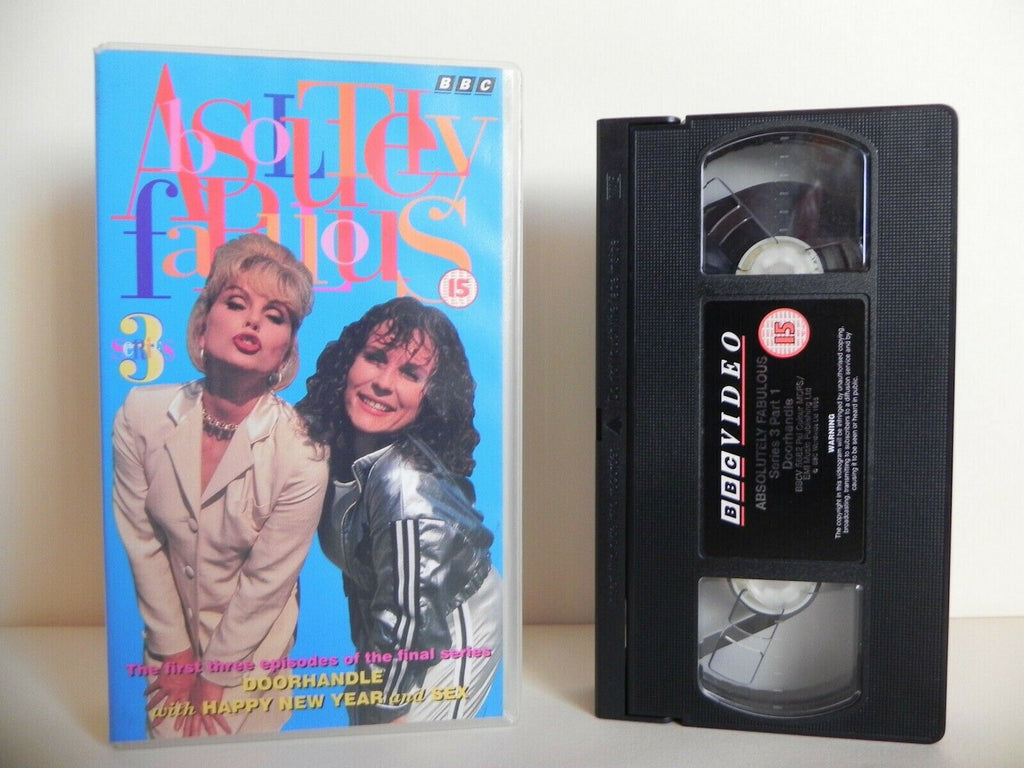 "Absolutely Fabulous - Series 3 - BBC - Three Episodes: ""Happy New Year"" - Pal VHS"