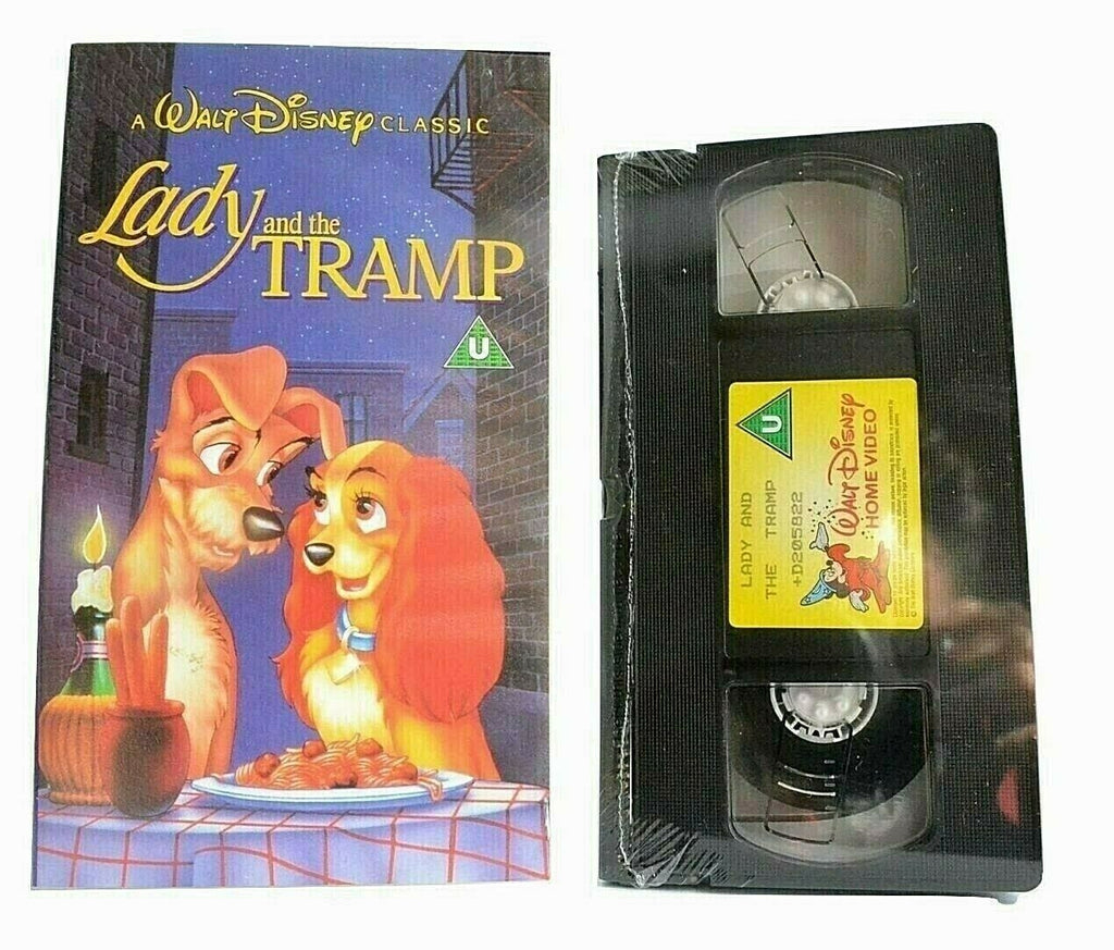 Lady And The Tramp -<Brand New Sealed>- Walt Disney - Animated - Kids - Pal VHS