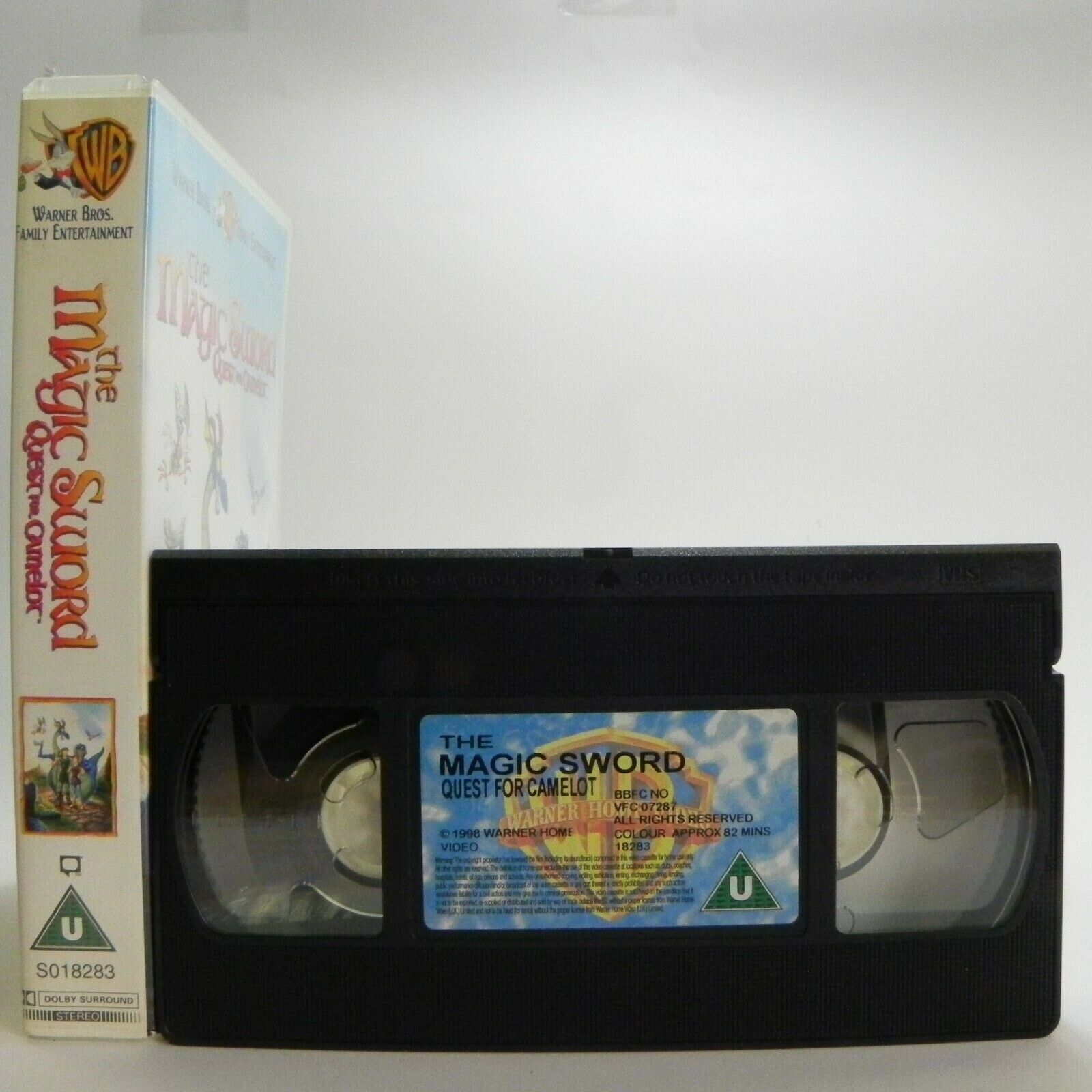The Magic Sword: Quest For Camelot - Warner Family - Animated - Adventure - VHS