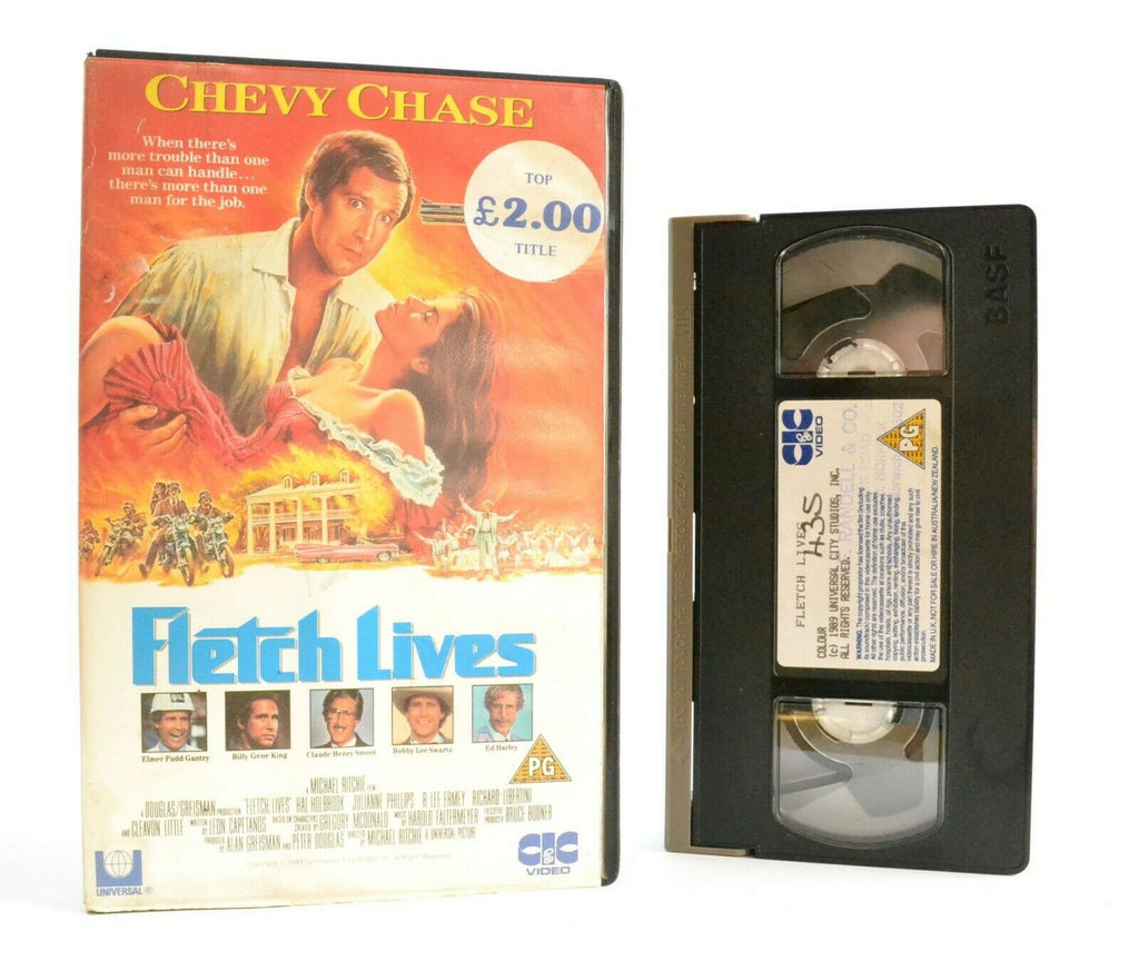 Fletch Lives: CIC Video (1989) - Comedy Classic - Large Box - Chevy Chase - VHS
