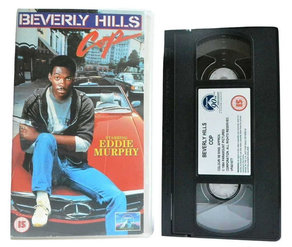 Beverly Hills Cop (1984): Axel Foley Style - Action Comedy - Eddie Murphy - VHS