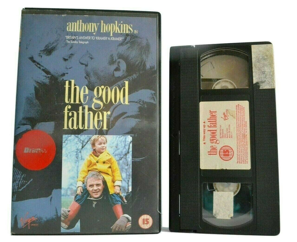 The Good Father: (1986) Virgin - [Peter Prince] - Drama - Anthony Hopkins - VHS