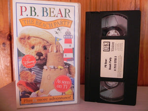 P.B. Bear: The Beach Party (DK Vision); Pre-school - Educational - Children's - Pal VHS