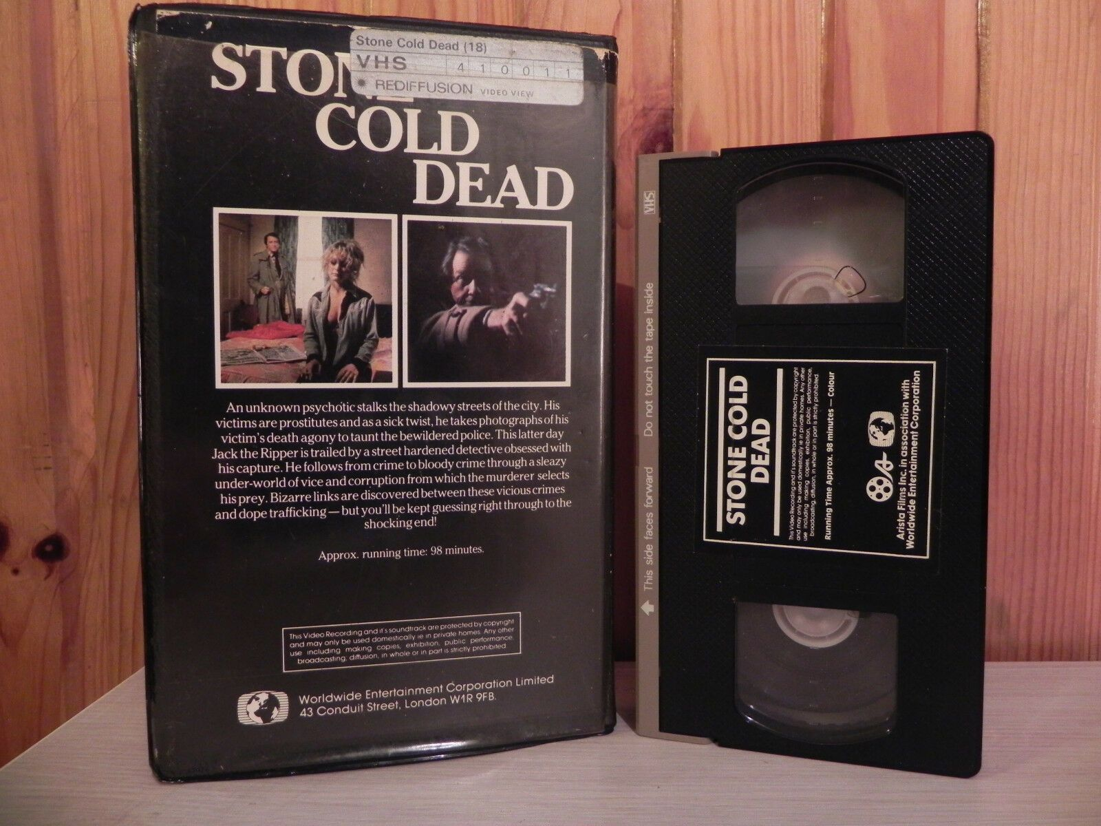 Stone Cold Dead - Big Box - Ex-Rental - Crime Thriller - Pre-Cert Video - VHS