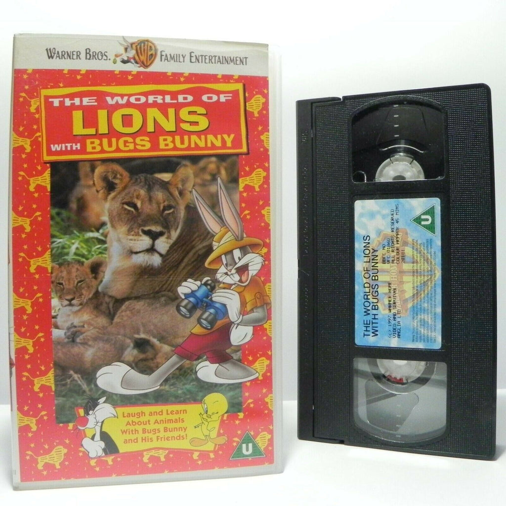 The World Of Lions With Bugs Bunny - Learning - Educational - Children's - VHS