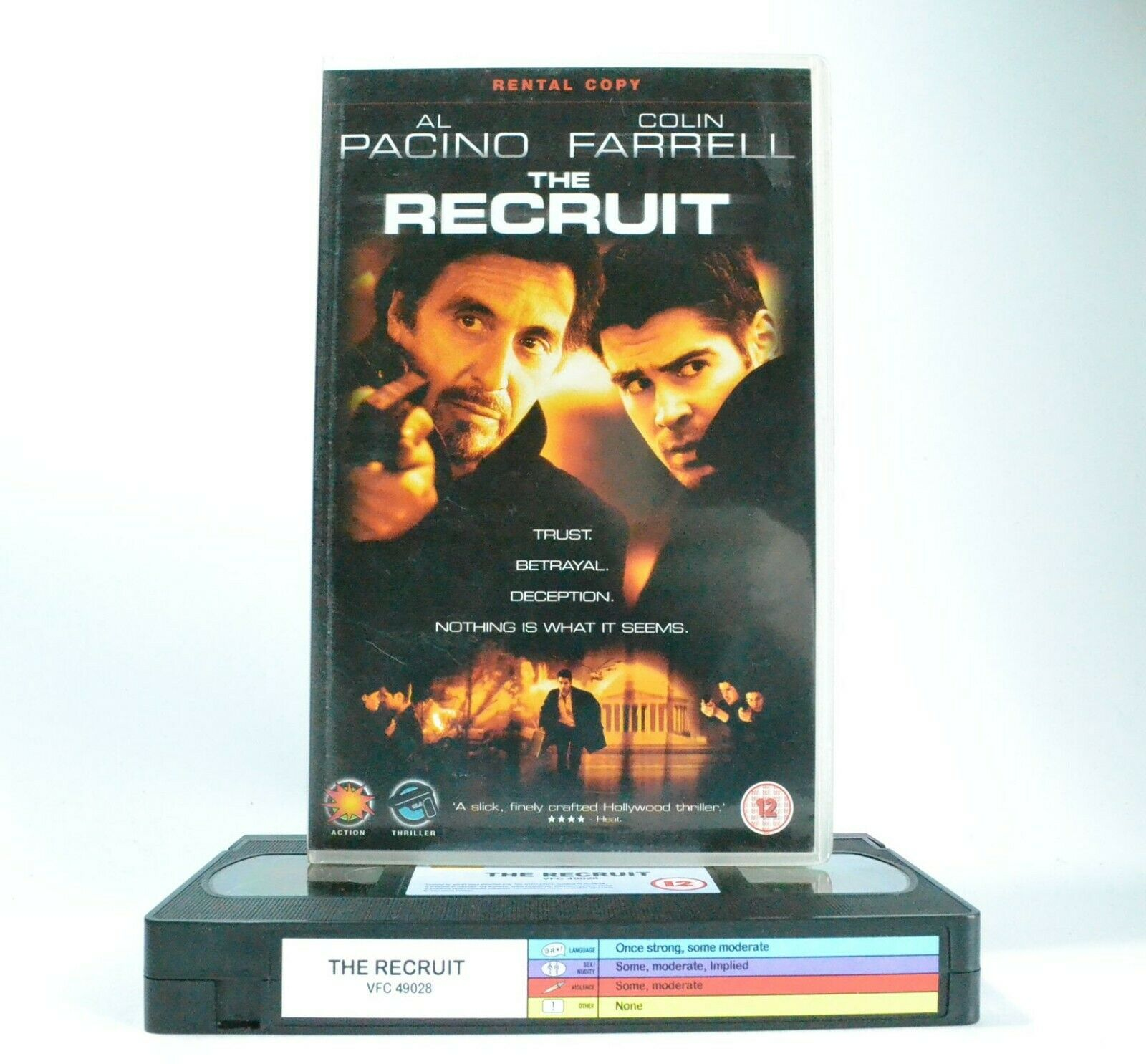 The Recruit: A.Pacino/C.Farrell - Spy Thriller - Large Box - Ex-Rental - Pal VHS