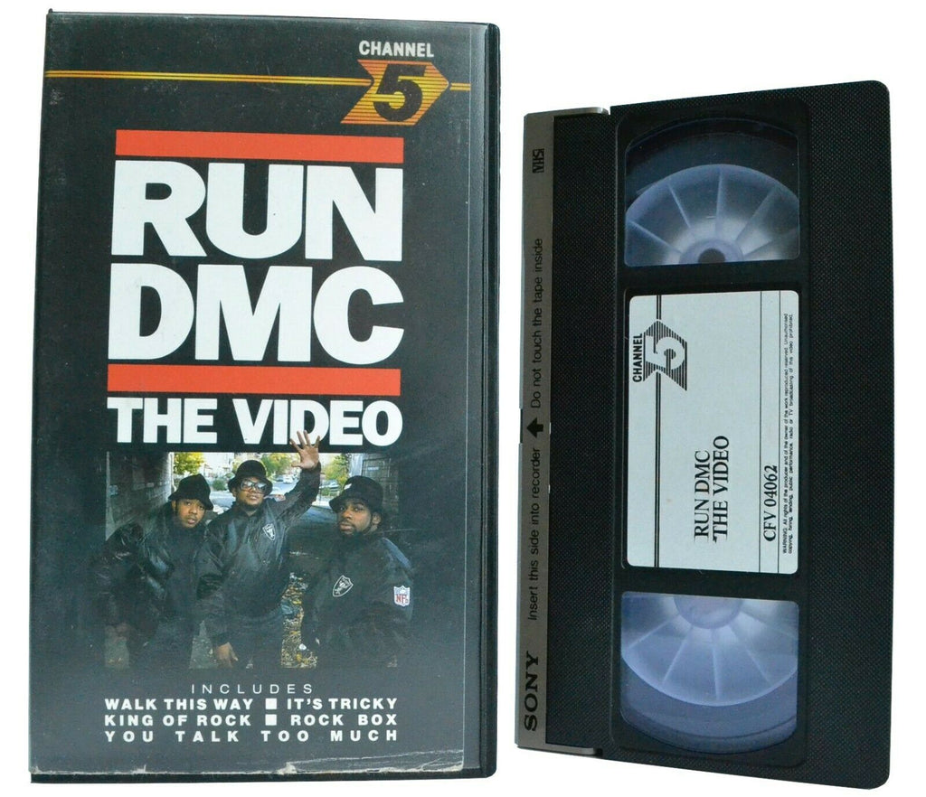 "Run DMC: The Video [""Walk This Way"" / ""It's Tricky""] East Coast Hip-Hop - VHS"