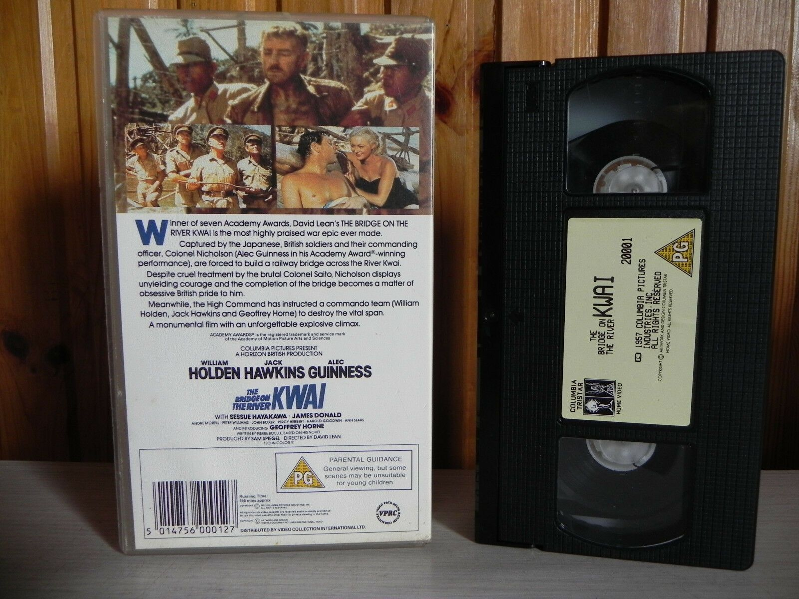The Bridge On The River Kwai - Columbia Pictures - William Holden - Pal VHS