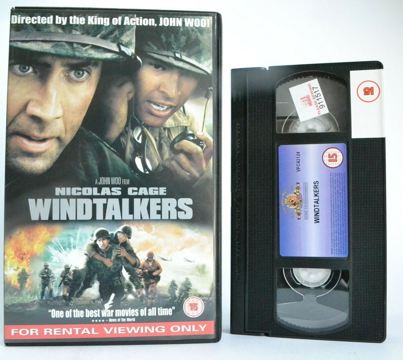 Windtalkers: Film By J.Woo (2002) - War Drama - Large Box - N.Cage - Pal VHS