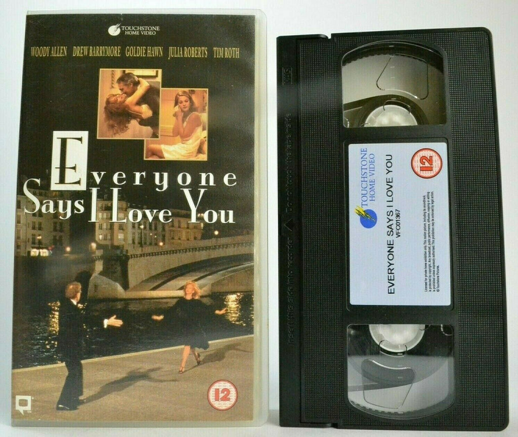 Barrymore, Drew, Everyone, Everyone Says I Love You, Love, Musical, Musicals & Broadway, PAL, Romantic, Says, VHS, Woody Allen