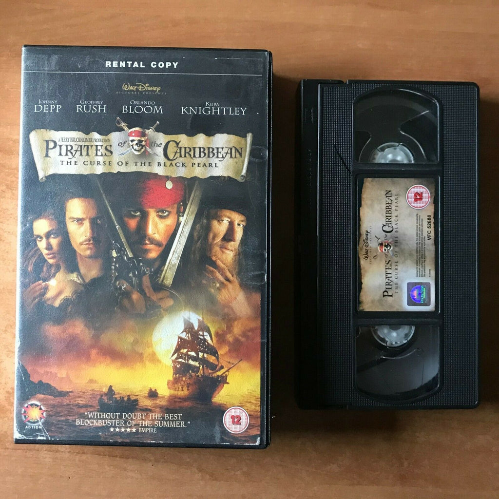 Pirates Of Caribbean [Black Pearl] Fantasy Adventure [Large Box] Rental - VHS