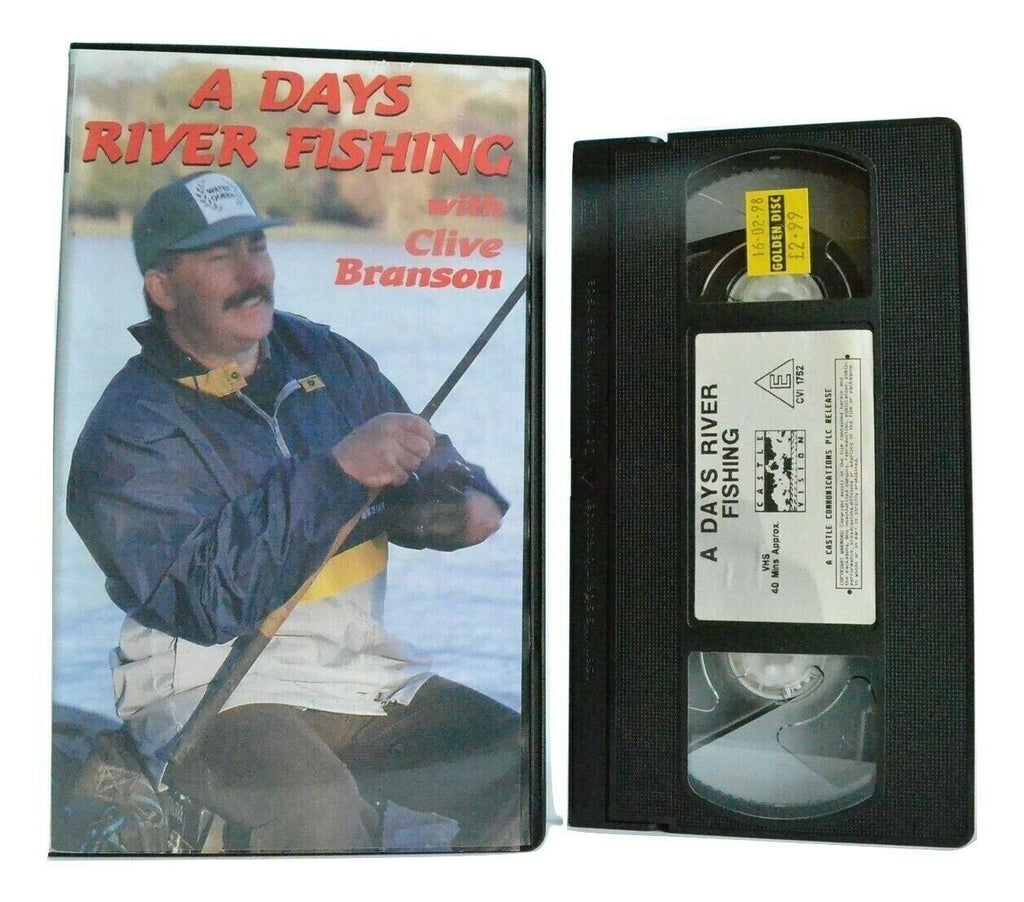 A Days River Fishing: By Clive Branson - World Champion - Coarse Fishing - VHS