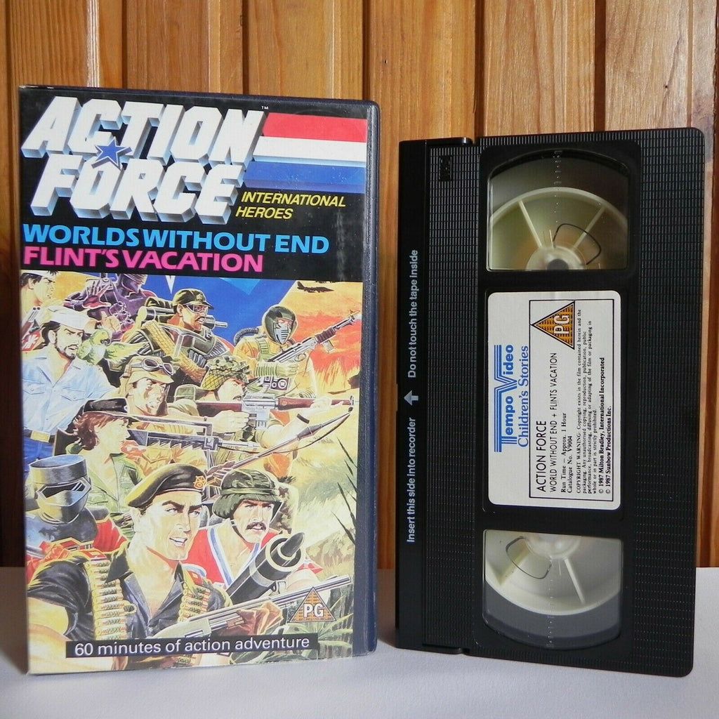 Action Force: Worlds Without End - Action Adventure - Animated - Kids - Pal VHS