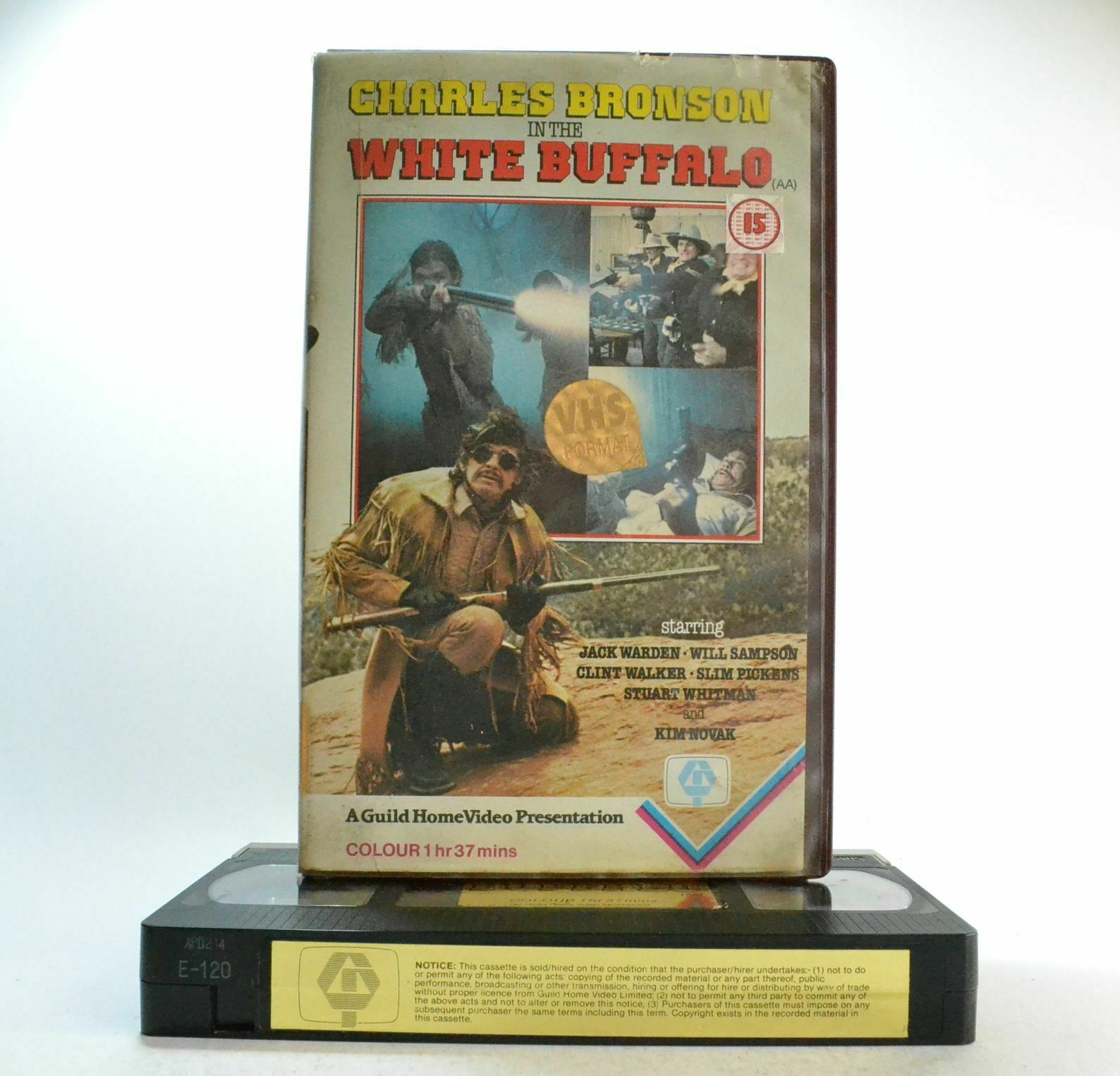 White Buffalo - Early Guild Release - Western 1874 - ExRental - Pre Cert VHS