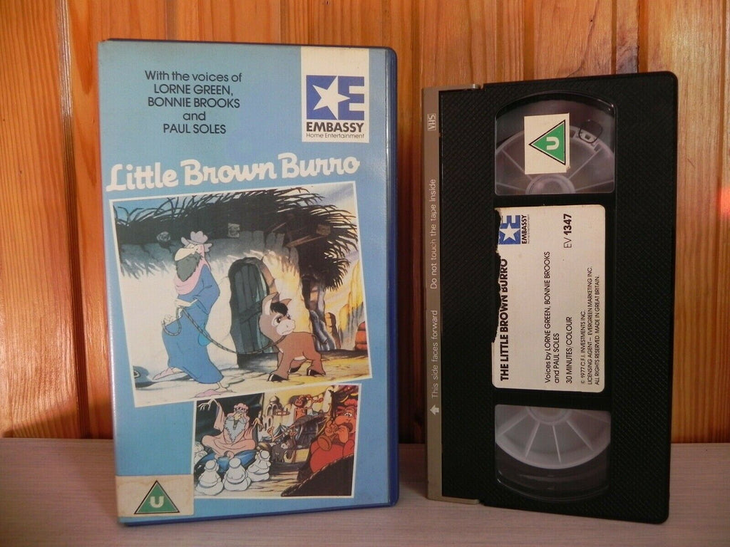 Little Brown Burro - Pre-Cert Video - Embassy - Lornie Green/Bonnie Brooks - VHS