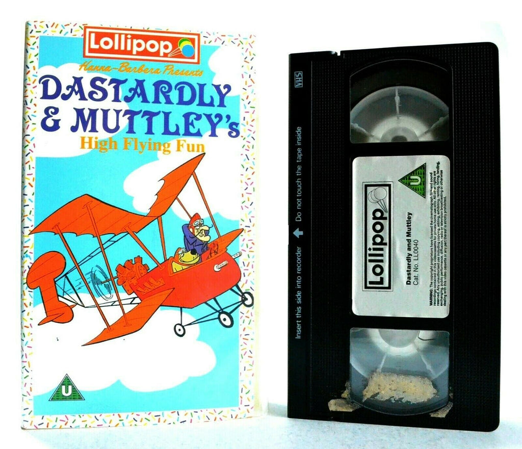Dastardly And Muttley: High Flying Fun - Animated - Adventures - Kids - Pal VHS