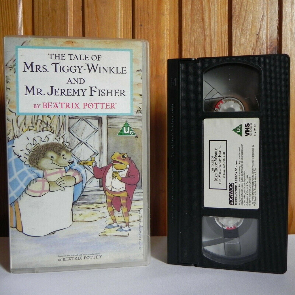 The Tale Of Mrs.Tiggy-Winkle And Mr.Jeremy Fisher - Animated - Children's - VHS