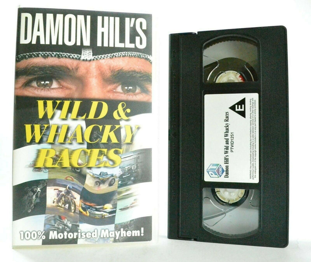 Wild And Whacky Races: By Damon Hill - Drag Bikes - Jet Cars - Racings - Pal VHS