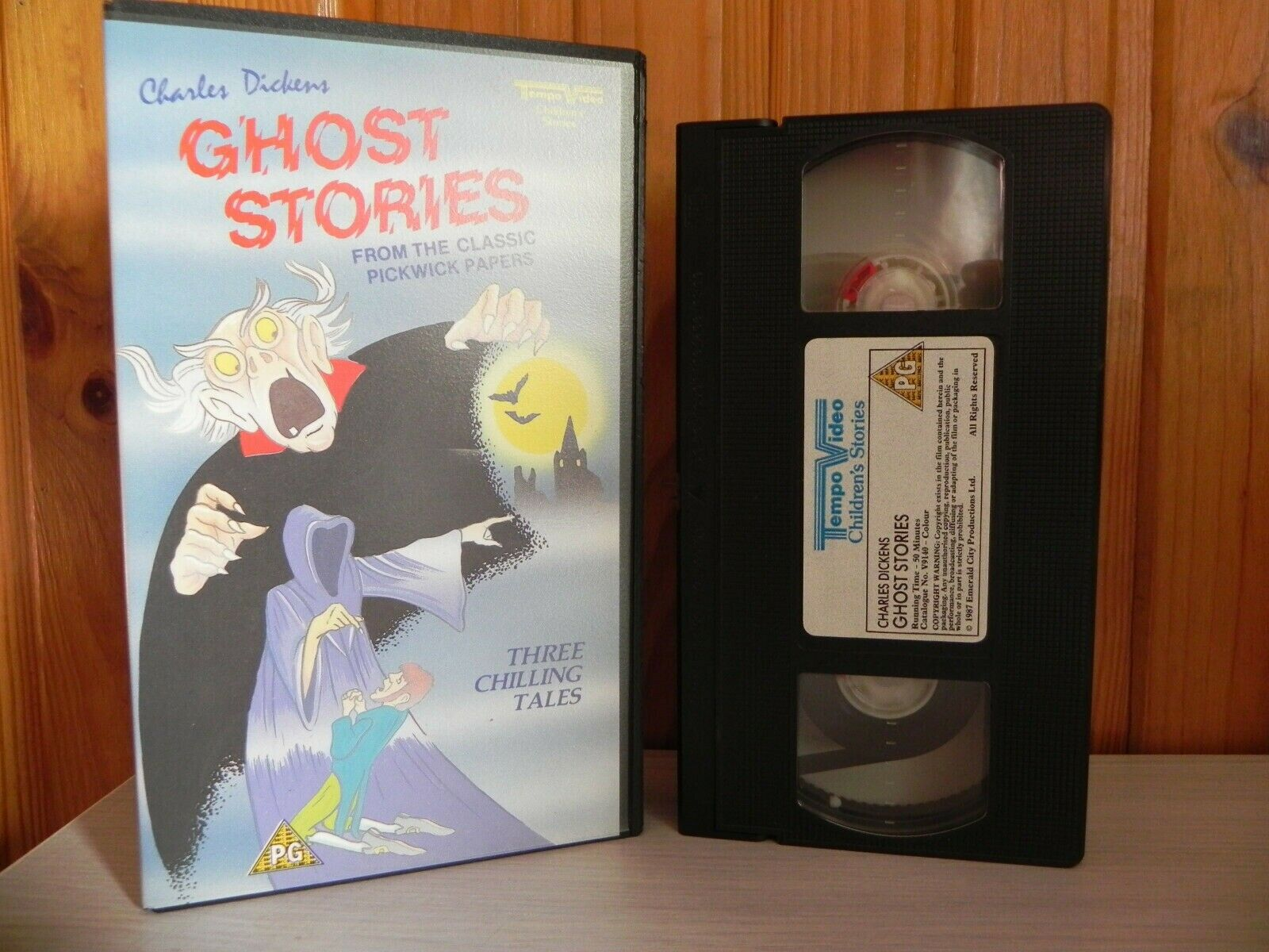 PG Video: 3 Ghost Stories - Charles Dickens (Pickwick Papers) - Children's - VHS