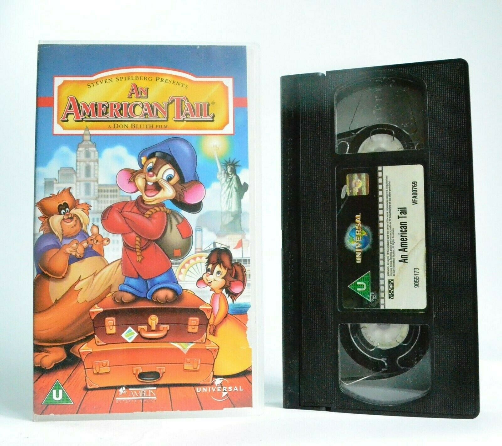 2002, Adventure, American, An, An AmericanTail, Bluth, By, Children's & Family, Children's Series, Dom Deluise, Don, Don Bluth, Musical, Pal, U, United Kingdom, VHS
