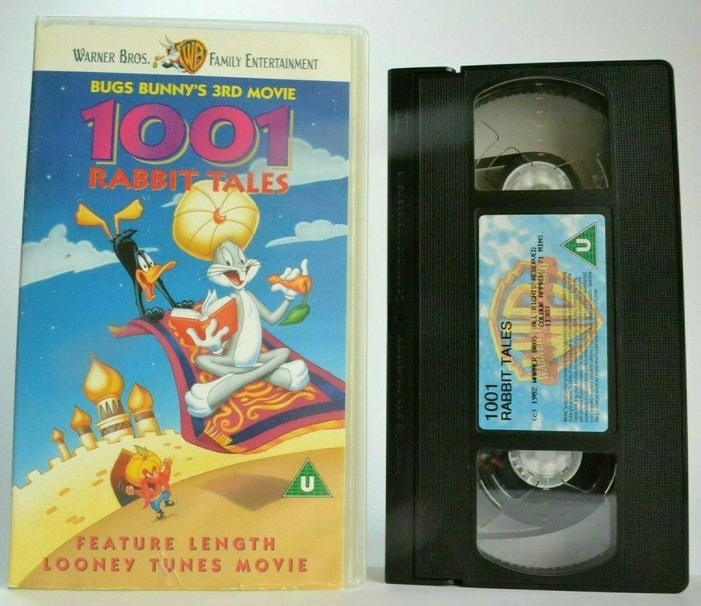 1001 Rabbit Tales [Bugs Bunny 3rd Movie] Looney Tunes - Animated - Kids - VHS