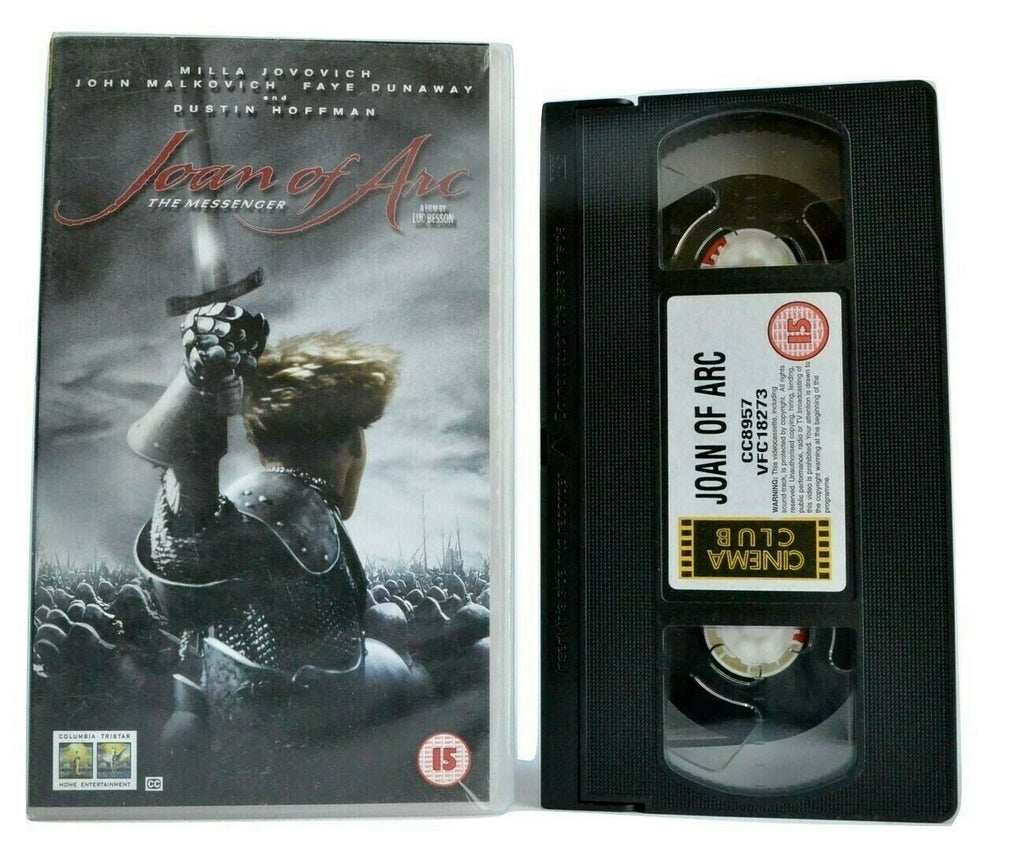 Joan Of Arc: A Luc Besson Film - Historical War Drama - Milla Jovovich - Pal VHS