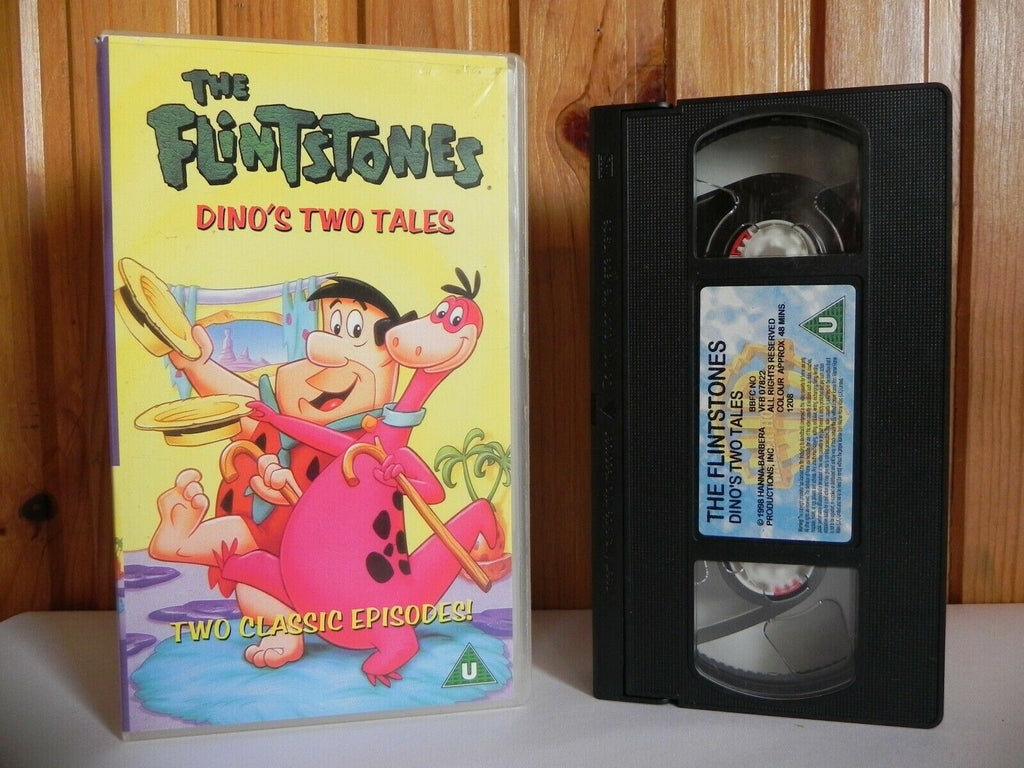 The Flintstones: Dino's Two Tales - Warner - Animated - Adventures - Kids - VHS