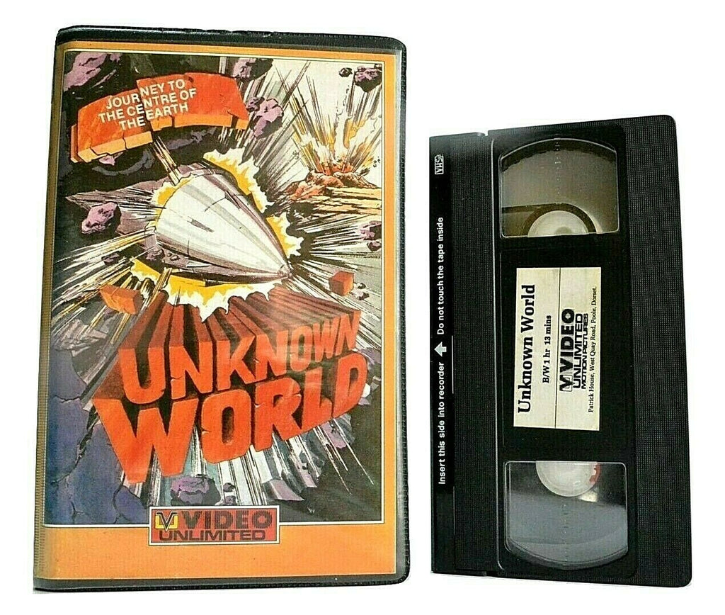 Unknown World: Night Without Stars [Video Unlimited Pre-Cert] 1951 Sci-Fi - VHS
