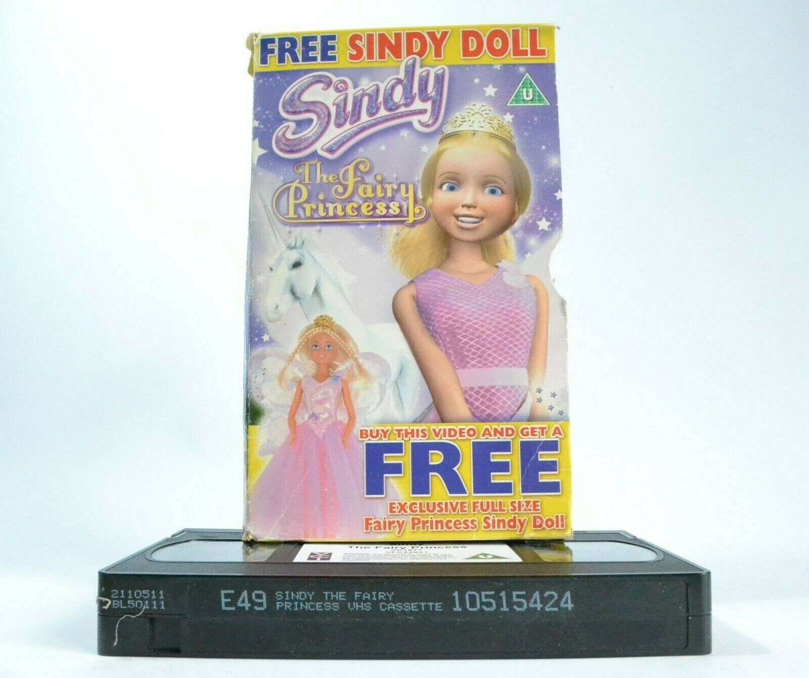 Sindy: The Fairy Princess -< Carton Box >- Animated Fantasy - Children's - VHS