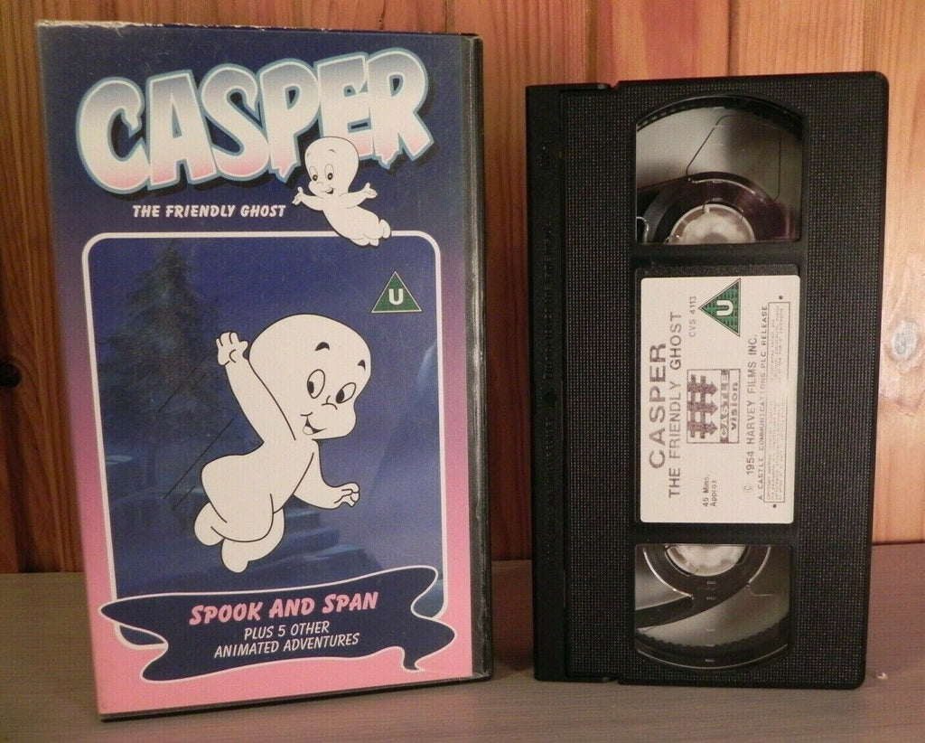 Casper The Friendly Ghost: Spook And Span - Animated Classic - Kids - Pal VHS