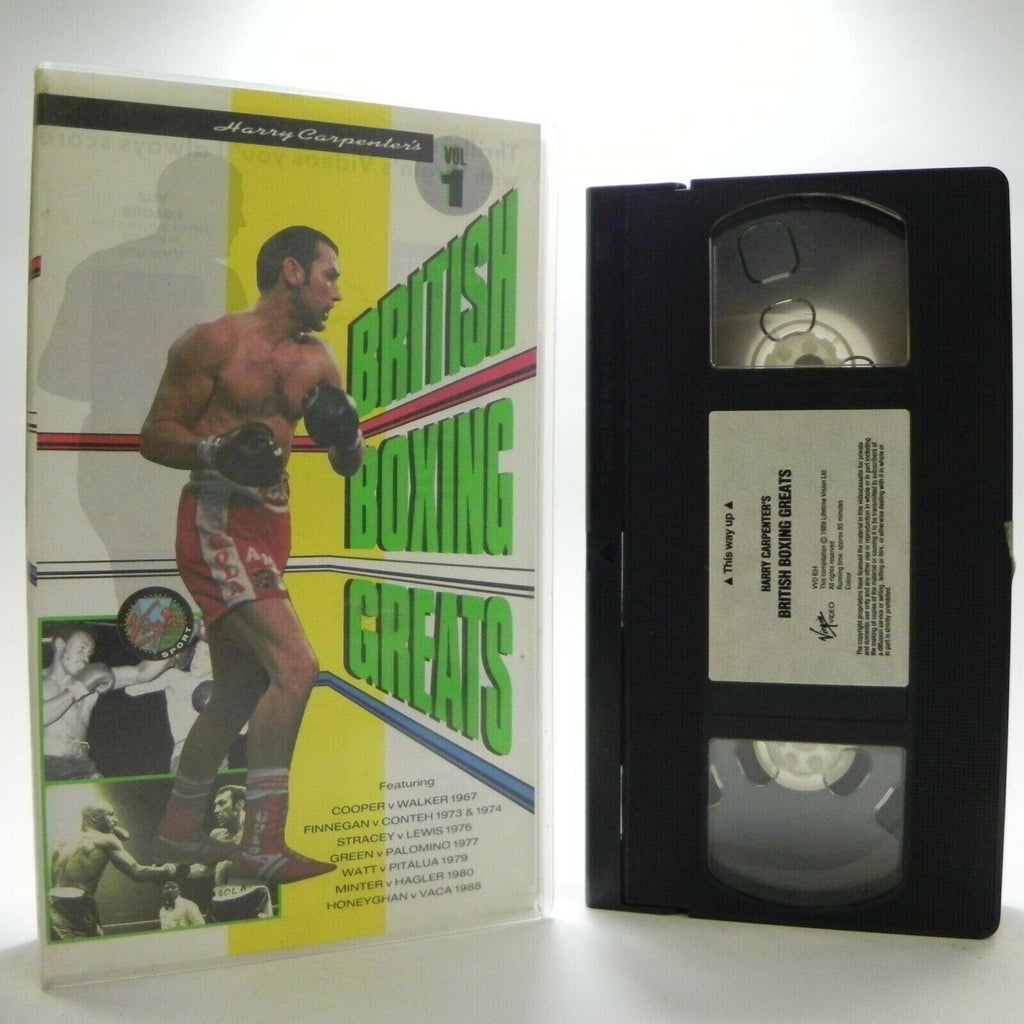 Harry Carpenter's: (6 Matches) British Boxing Greats Vol 1 - Virgin 1989 - VHS
