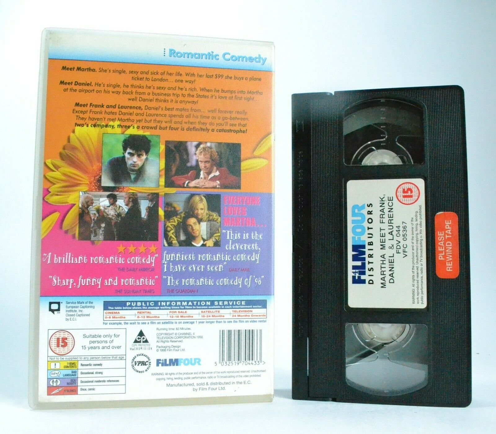 Martha Meet Frank, Daniel And Laurence: Romantic Comedy (1998) - Large Box - VHS