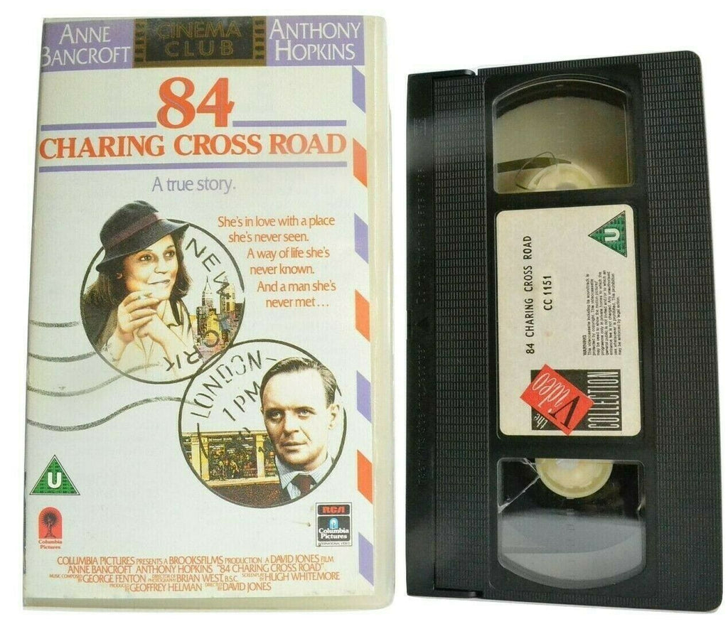 84, Anne, Anthony, Anthony Hopkins, Bancroft, Charing, Cross, Drama, Hopkins, Pal, VHS