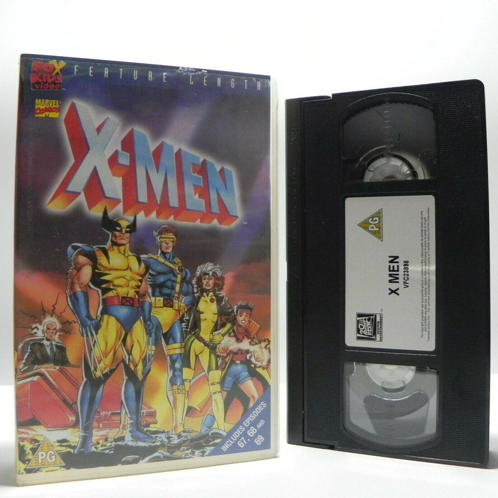 X-Men - Animated - Action Adventures - 3 Episodes - Marvel Comics - Kids - VHS