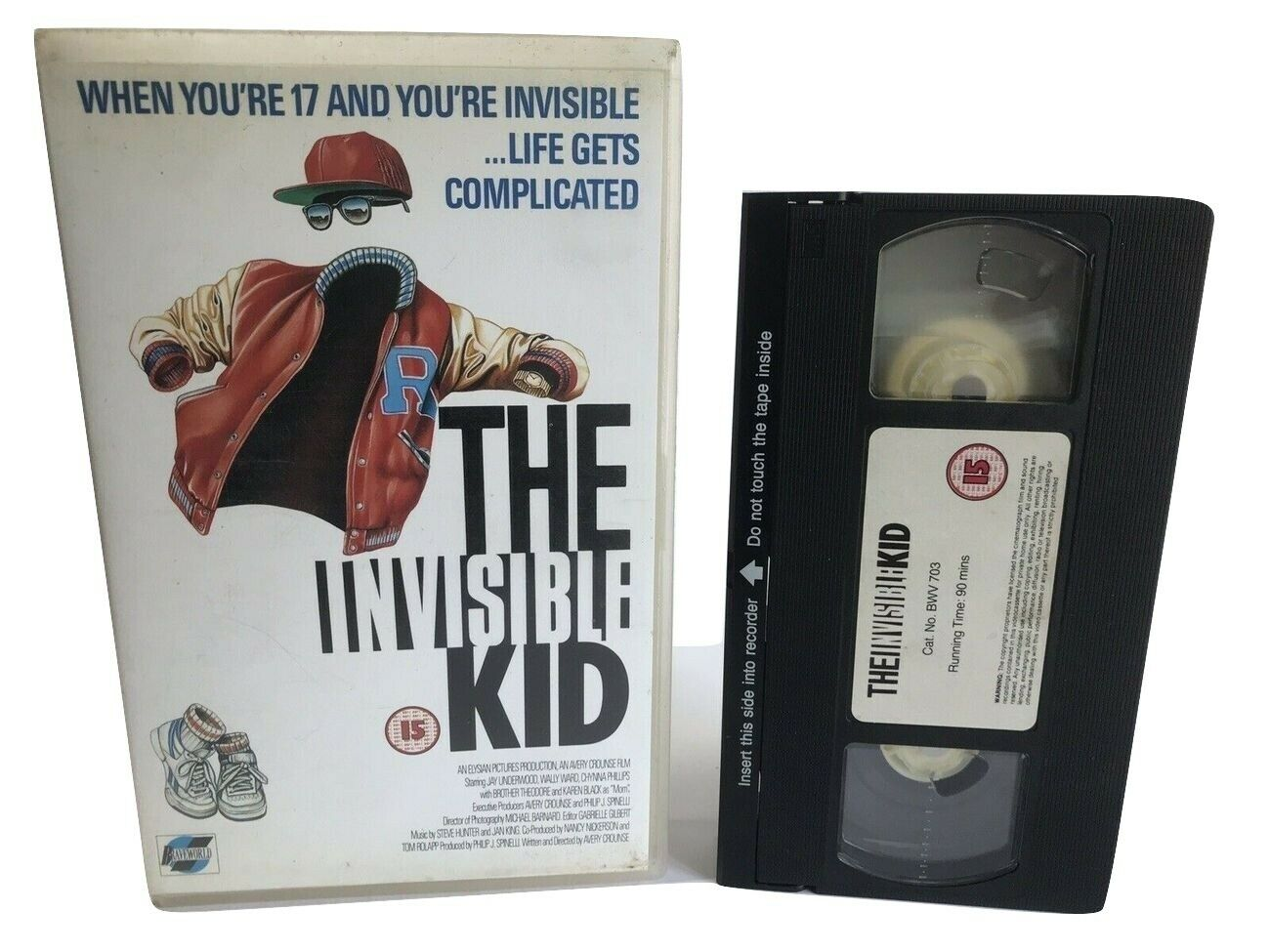 The Invisible Kid: (1988) Cult Comedy/Braveworld - Jay Underwood - Large Box OOP VHS