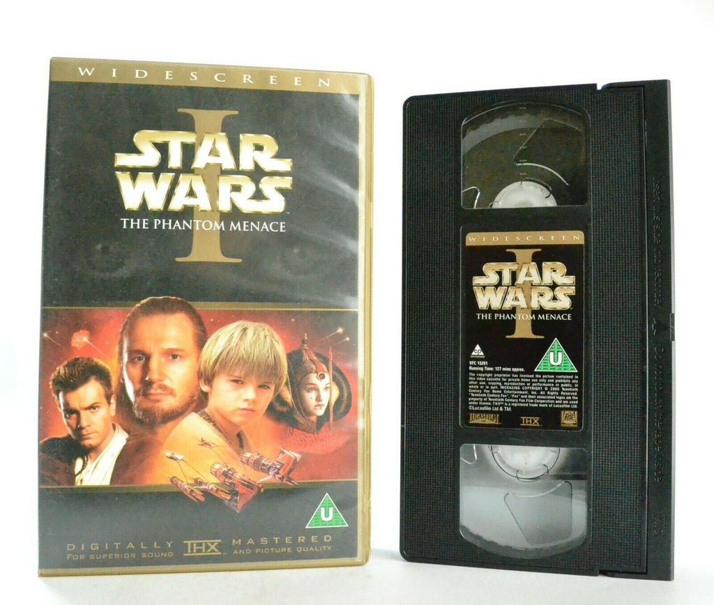 Star Wars: The Phantom Menace - Epic Space Opera - Widescreen - L.Neeson - VHS
