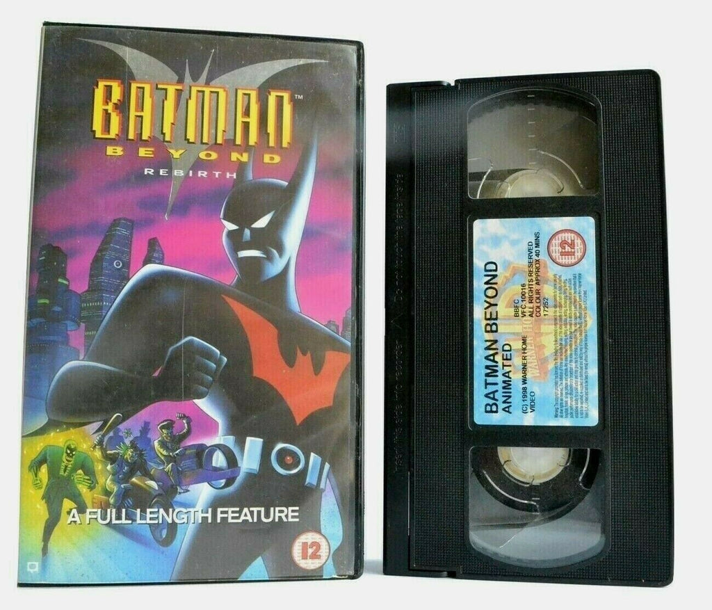 12A/12, 1999, Adventures, Animated, Batman, Children's & Family, Children's T.V. Series, PAL, Rebirth, U, United Kingdom, VHS