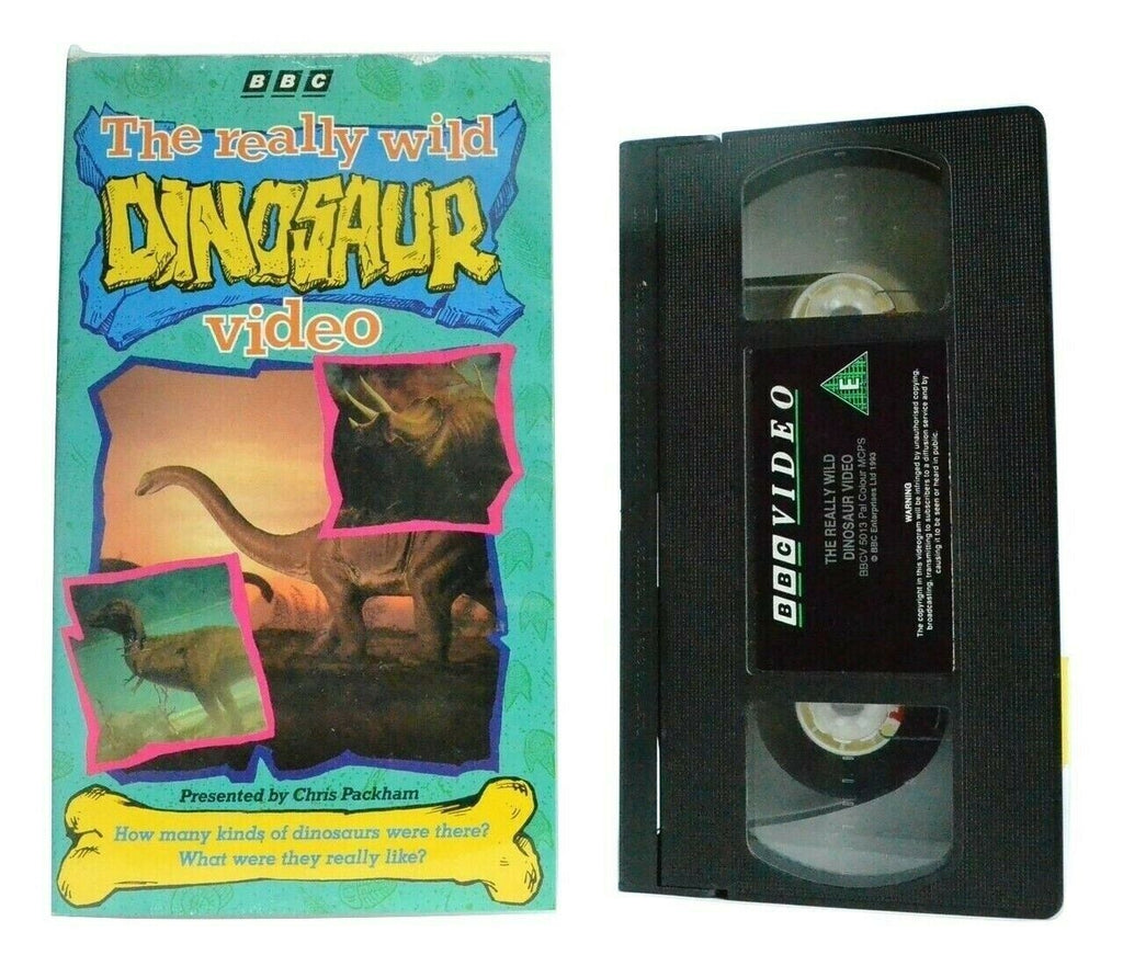 The Really Wild Dinosaur Video: By C.Packham - Educational - Children's - VHS