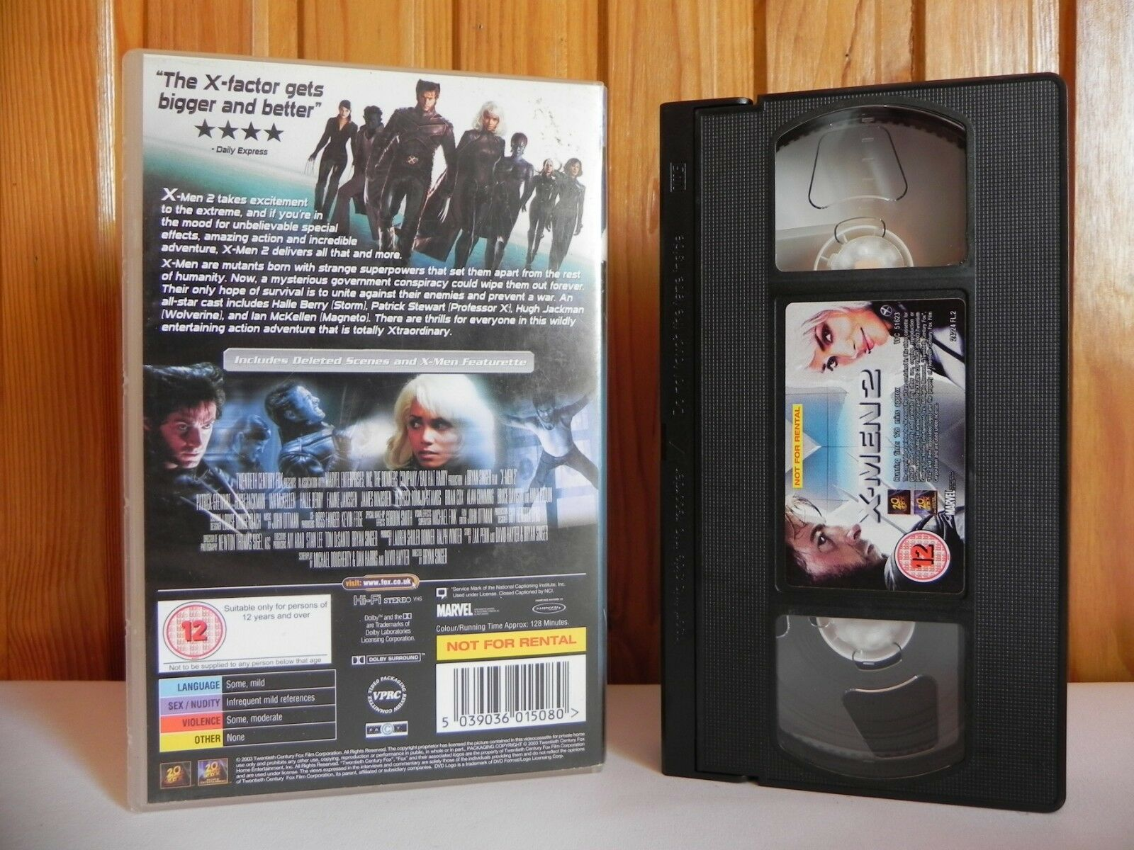 X-Men 2 - 20th Century Fox - Action - Patrick Stewart - Hugh Jackman - Pal VHS