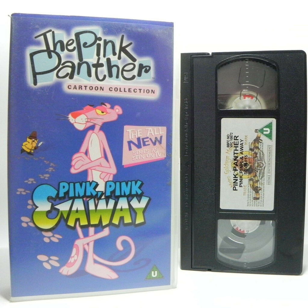 The Pink Panther: Pink, Pink & Away - Modernised Children's - Pal VHS
