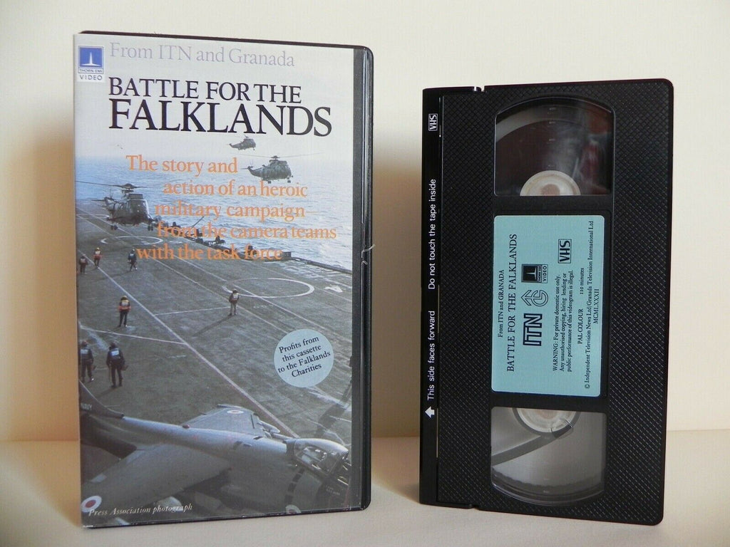 Battle For The Falklands - Thorn EMI - Documentary - Military Campaign - Pal VHS