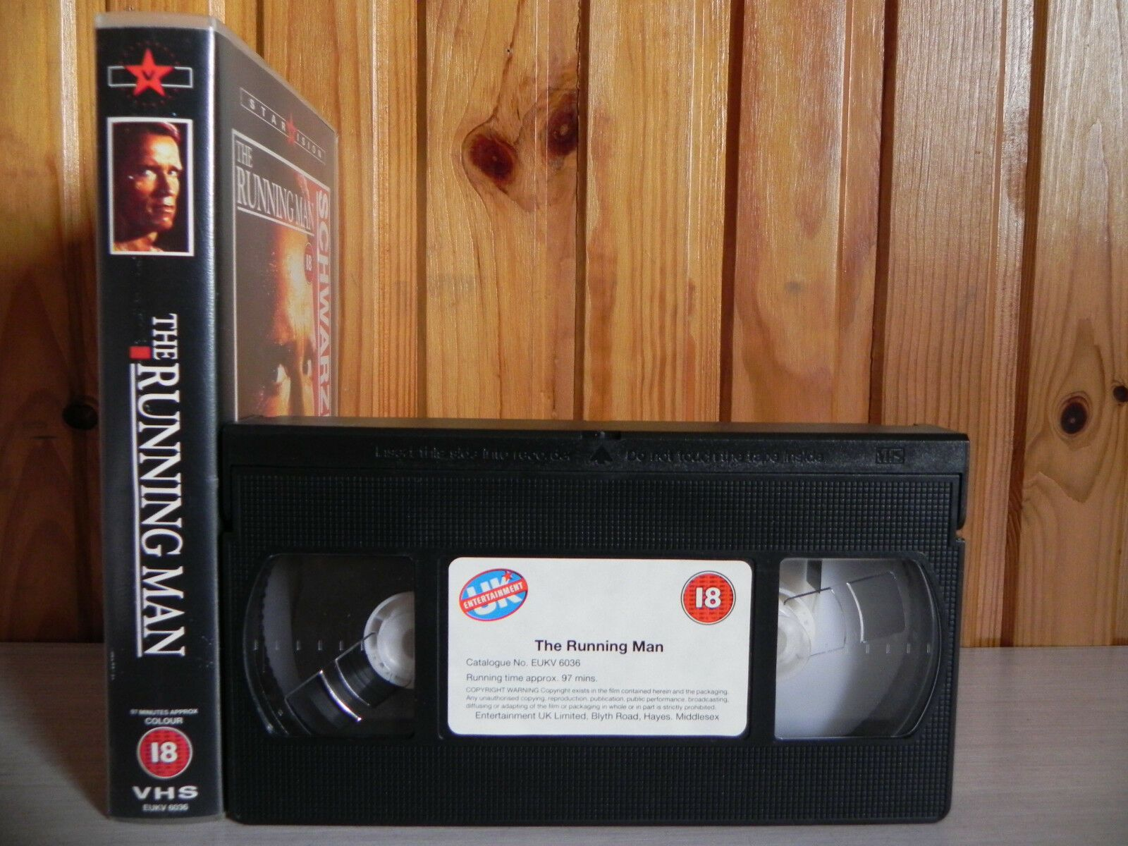The Running Man - Starvision - Action - Sci-fi - Arnold Schwarzenegger - Pal VHS