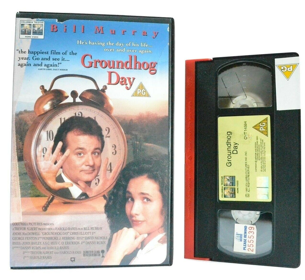 Groundhog Day: Comedy Classic (1993) - Large Box - Ex-Rental - Bill Murray - VHS