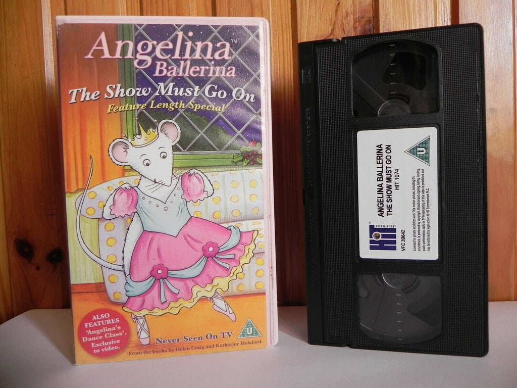 Angelina Ballerina: The Show Must Go On - Animated - Adventure - Kids - Pal VHS