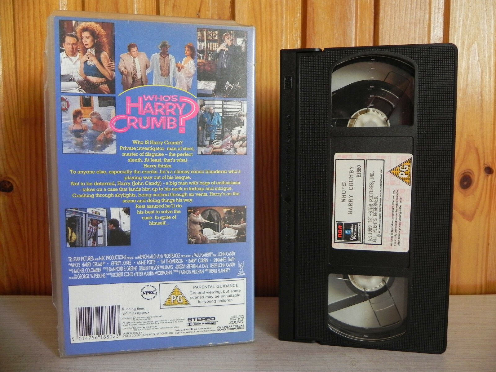 Who's Harry Crumb? - John Candy - Nerves Of Steel - Brain Of Stone - Pal VHS
