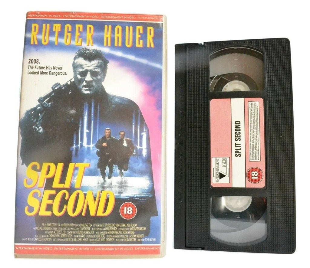 Split Second: Dangerous Future - Sci-Fi - Rutger Hauer/Kim Cattrall - Pal VHS